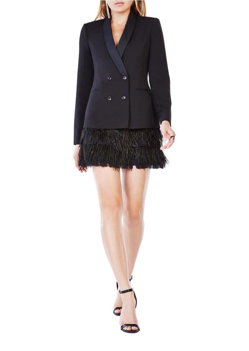 Bcbg Max Azria Bcbgmaxazria Delphina Feathered Jacket Dress