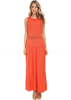BCBGMAXAZRIA Delyse Pointelle Maxi Dress