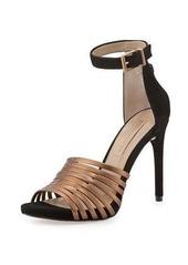 BCBG Max Azria BCBGMAXAZRIA Dena Leather/Suede Strappy Sandal
