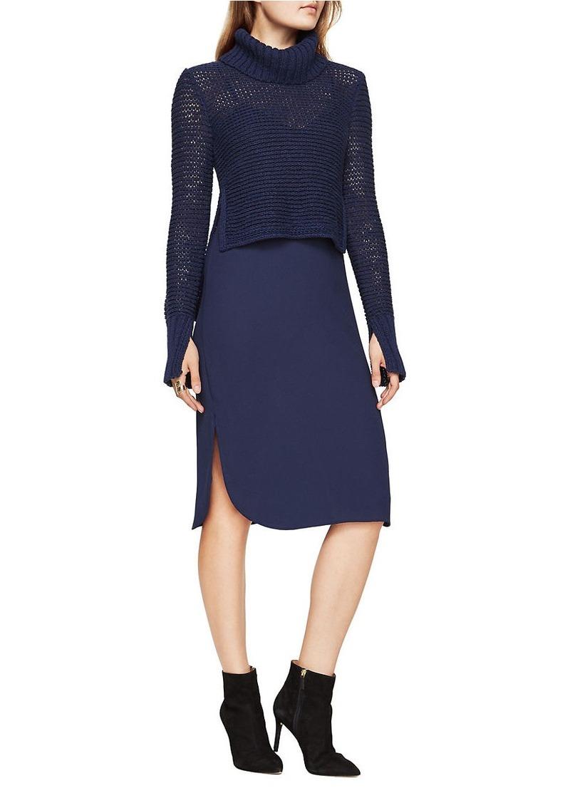 BCBG Max Azria BCBGMAXAZRIA Dominick Turtleneck Sweater and Slip Dress Set