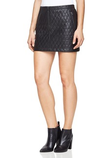BCBG Max Azria BCBGMAXAZRIA Dotty Quilted Faux-Leather Skirt
