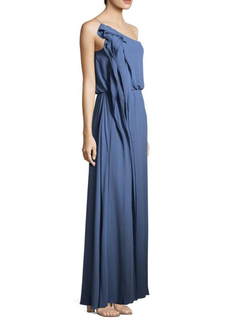 BCBG Blue One Shoulder Dress