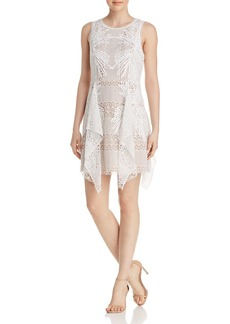 BCBG Max Azria BCBGMAXAZRIA Drape-Detail Lace Dress