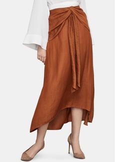 BCBG Max Azria Bcbgmaxazria Draped A-Line Midi Skirt