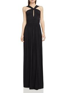BCBGMAXAZRIA Draped Jersey Gown