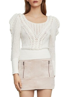 BCBG Max Azria BCBGMAXAZRIA Draped Shoulder Plaited Sweater