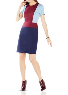 BCBGMAXAZRIA Drie Color-Block Ponte Dress