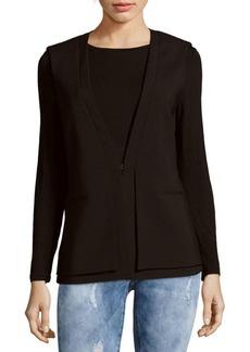 BCBGMAXAZRIA Eddie Woven Double-Layer Vest