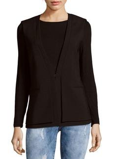 BCBG Max Azria BCBGMAXAZRIA Eddie Woven Double-Layer Vest