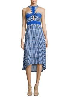 BCBGMAXAZRIA Eileen Tie-Dye Hi-Lo Dress