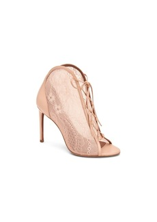 BCBG Max Azria Bcbgmaxazria Elaine Lace Peep Toe Booties Women's Shoes