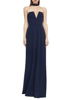 BCBGMAXAZRIA Elias Collar-Detail Gown