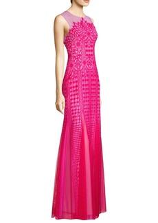 BCBG Max Azria Elinor Sleeveless Lace Gown
