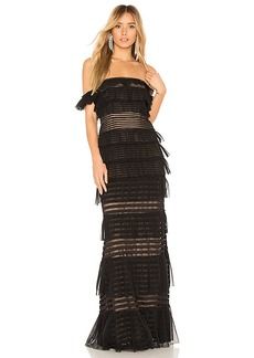 BCBG Max Azria BCBGMAXAZRIA Elora Off The Shoulder Gown