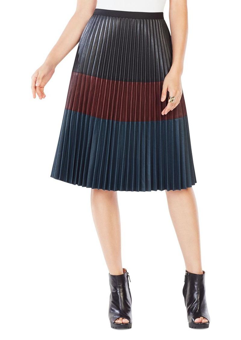 b0ac70743c BCBG Max Azria BCBGMAXAZRIA Elsa Pleated Faux-Leather Skirt | Skirts