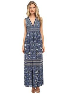 BCBGMAXAZRIA Elyza Printed Sleeveless Long Dress