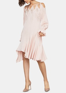 BCBG Max Azria Bcbgmaxazria Embellished Cutout-Neck Drop-Waist Dress