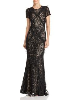 BCBG Max Azria BCBGMAXAZRIA Embellished Lace Gown