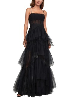 BCBG Max Azria Bcbgmaxazria Embellished Tulle Gown