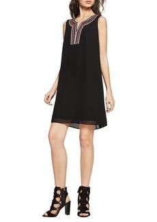 BCBGeneration Embroidered Chiffon A-Line Dress