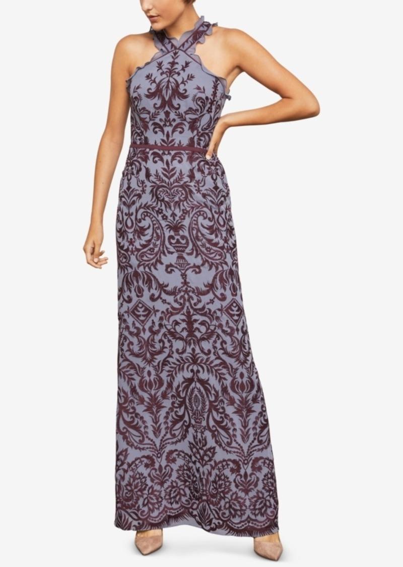 9afb71bab61 BCBG Max Azria Bcbgmaxazria Embroidered Chiffon Halter Gown