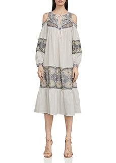BCBG Max Azria BCBGMAXAZRIA Embroidered Cold-Shoulder Dress