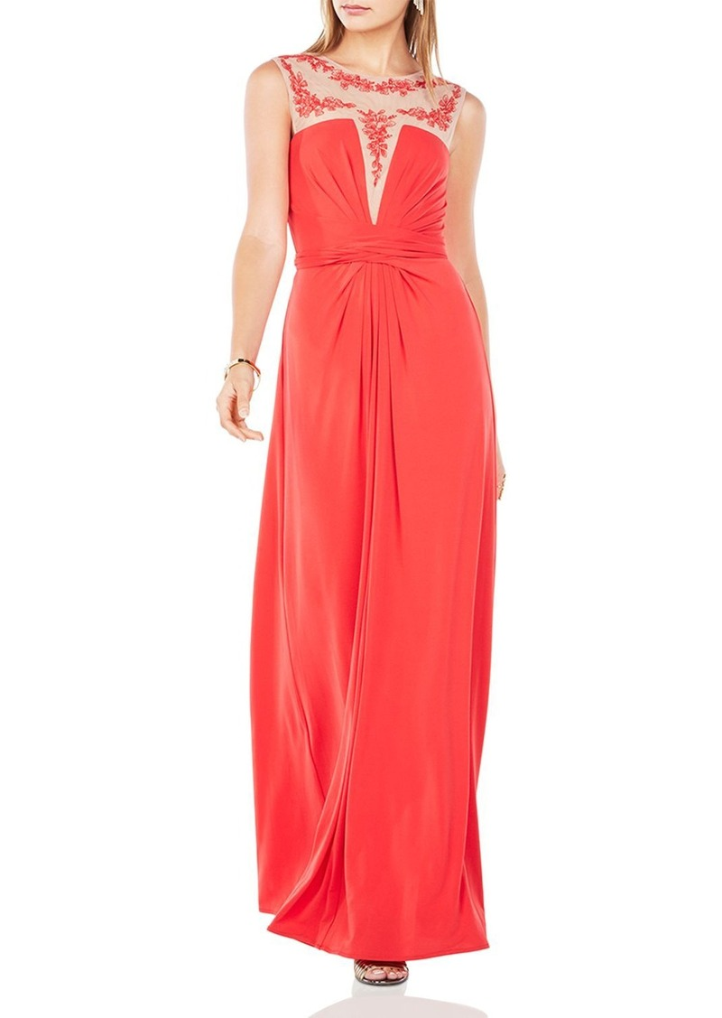 BCBG Max Azria BCBGMAXAZRIA Embroidered-Detail Gown