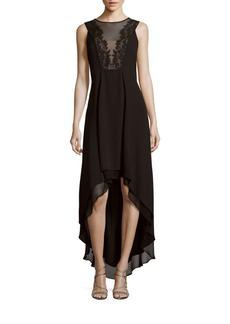 BCBG Max Azria BCBGMAXAZRIA Embroidered Illusion Dress