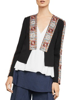 BCBG Max Azria BCBGMAXAZRIA Embroidered Open-Front Jacket