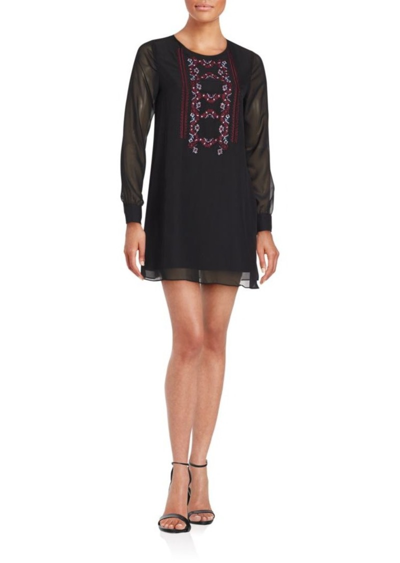 BCBGeneration Embroidered Shift Dress