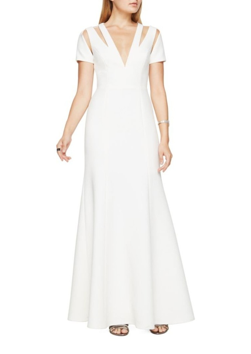 BCBG Max Azria BCBGMAXAZRIA Estrella V-Neck Cutout Gown | Dresses