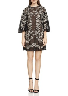 BCBGMAXAZRIA Evangeline Embroidered Lace Dress
