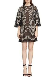 BCBGMAXAZRIA Evangeline Floral-Embroidered Dress