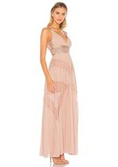 BCBG Max Azria BCBGMAXAZRIA Eve Pleated Gown