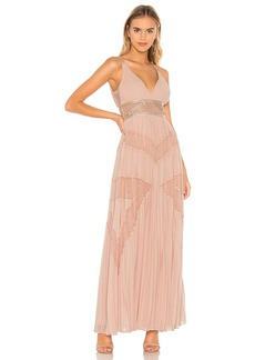 BCBG Max Azria BCBGMAXAZRIA Eve Pleated Gown