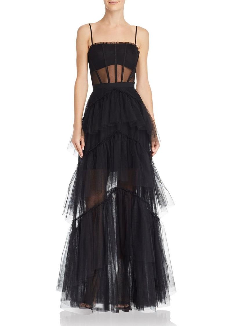 BCBG Max Azria BCBGMAXAZRIA Tulle Corset Essential Gown