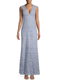 BCBG Max Azria Evening Lace Knit Gown