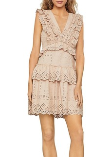 BCBG Max Azria BCBGMAXAZRIA Eyelet Ruffled Mini Dress