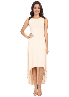 BCBGMAXAZRIA Fara High Low Dress w/ Twist Open Back