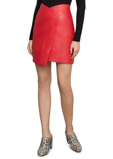 BCBG Max Azria Bcbgmaxazria Faux-Leather Asymmetrical Skirt