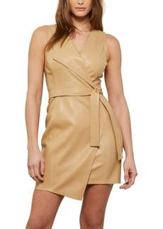 BCBG Max Azria Bcbgmaxazria Faux-Leather Belted Mini Dress