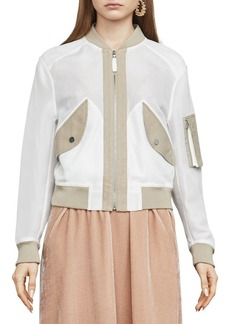 BCBG Max Azria BCBGMAXAZRIA Faux Leather Bomber Jacket