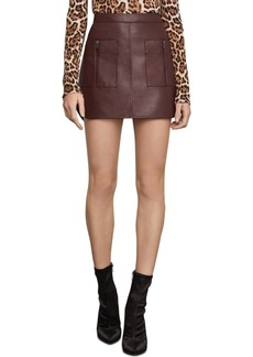 BCBG Max Azria Bcbgmaxazria Faux-Leather Mini Skirt