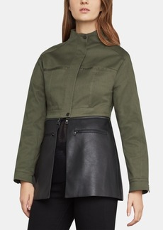 BCBG Max Azria Bcbgmaxazria Faux-Leather-Peplum Jacket