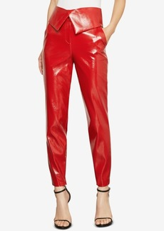 BCBG Max Azria Bcbgmaxazria Faux-Leather Peplum Pants