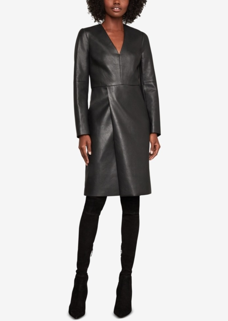 BCBG Max Azria Bcbgmaxazria Faux-Leather Shift Dress