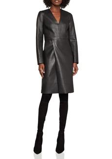 BCBG Max Azria BCBGMAXAZRIA Faux Leather Shift Dress