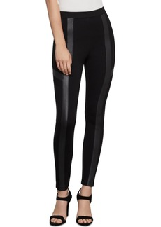 BCBG Max Azria Bcbgmaxazria Faux-Leather-Trim Moto Leggings