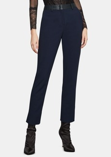 BCBG Max Azria Bcbgmaxazria Faux-Leather-Trim Pants