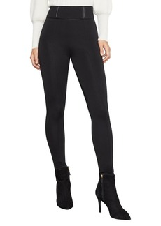 BCBG Max Azria BCBGMAXAZRIA Faux Leather-Trimmed Ponte Leggings